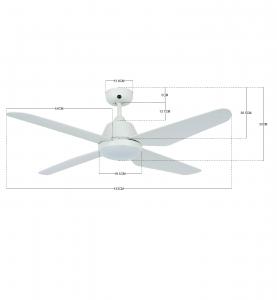 Stropný ventilátor Lucci Air Airfusion Aria 212994