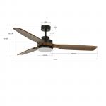 Stropný ventilátor Lucci Air Airfusion Shoalhaven 213054
