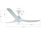 Stropný ventilátor Lucci Air Mariner 213096